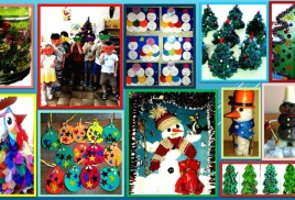 В группах ДОУ прошли выставки, посвященные Новогодним праздникам